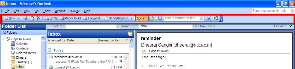 how to enable highlight search option in outlook 2007